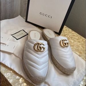 ✨GUCCI WHITE PILAR LEATHER ESPADRILLE✨ (NWOT)